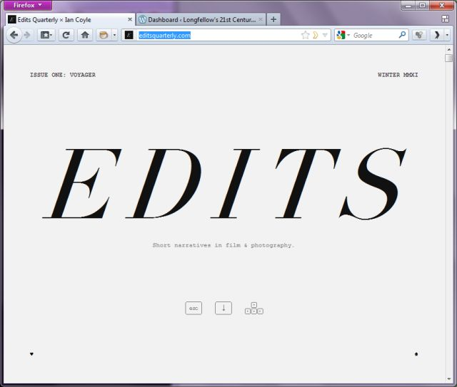 Edits Magazine Front Page