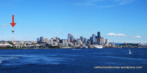 This is the offending photograph that was pulled from a POD (Print on Demand) site.  I dared to include the Space Needle in my Seattle Skyline.