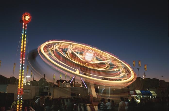 Fairground At Night