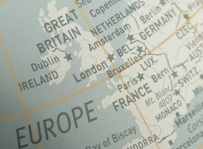 Map Showing UK